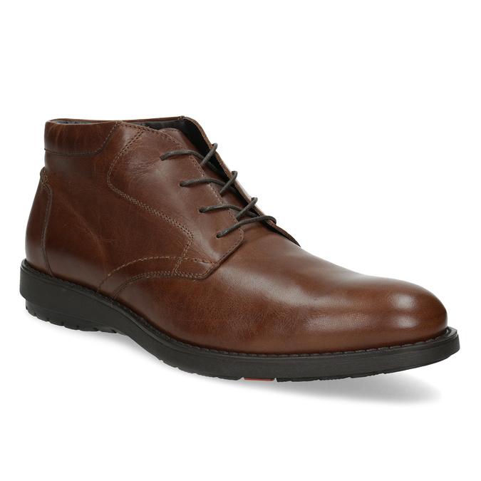 Členková kožená pánska hnedá obuv flexible, hnedá, 896-4707 - 13