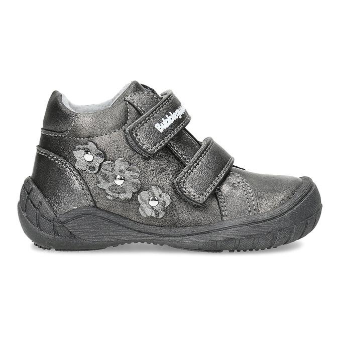 Dievčenské členkové topánky s kytičkami bubblegummers, šedá, 121-2622 - 19