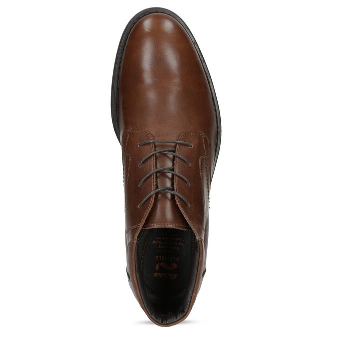 Členková kožená pánska hnedá obuv flexible, hnedá, 896-4707 - 17