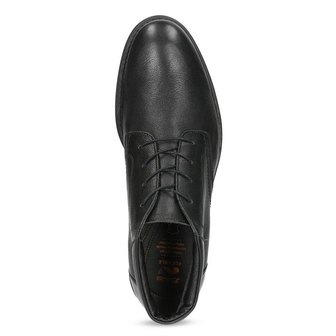 Členková čierna kožená pánska obuv flexible, čierna, 894-6704 - 17