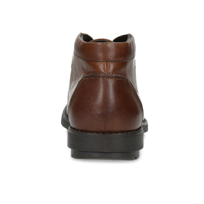 Členková kožená pánska hnedá obuv flexible, hnedá, 896-4707 - 15