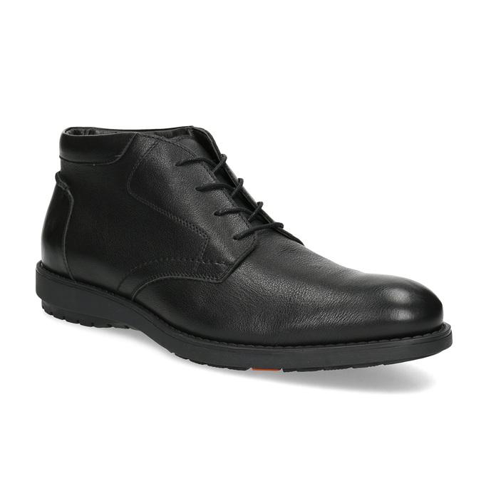 Členková čierna kožená pánska obuv flexible, čierna, 894-6704 - 13