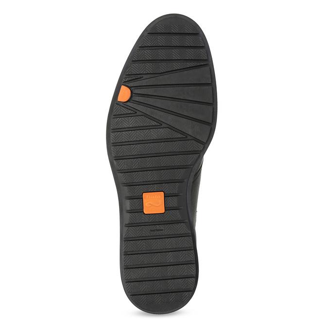 Členková čierna kožená pánska obuv flexible, čierna, 894-6704 - 18