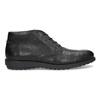 Členková čierna kožená pánska obuv flexible, čierna, 894-6704 - 19