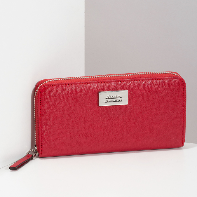 Baťa Červená dámska peňaženka na zips - Peňaženky  e4700503940