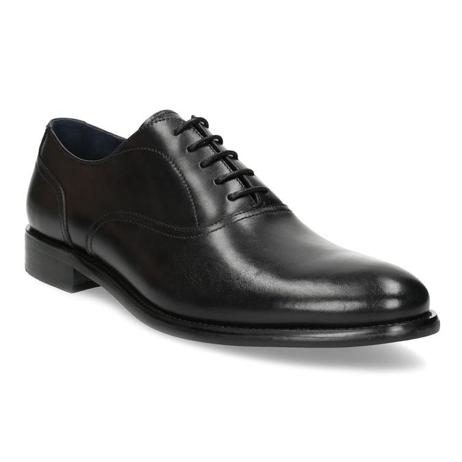 Pánske čierne kožené Oxford poltopánky bata, čierna, 824-6615 - 13
