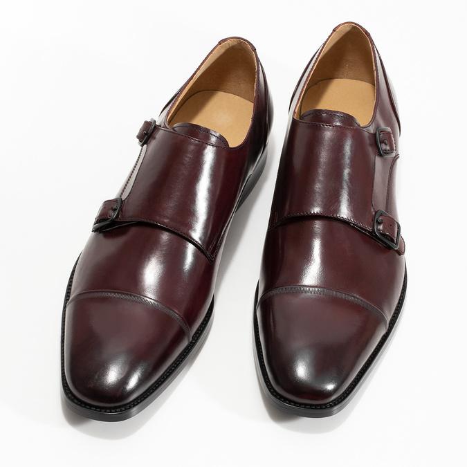 Pánske kožené Monk Shoes poltopánky bata, červená, 826-5738 - 16