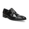 Pánske kožené Monk Shoes poltopánky bata, čierna, 824-6613 - 13