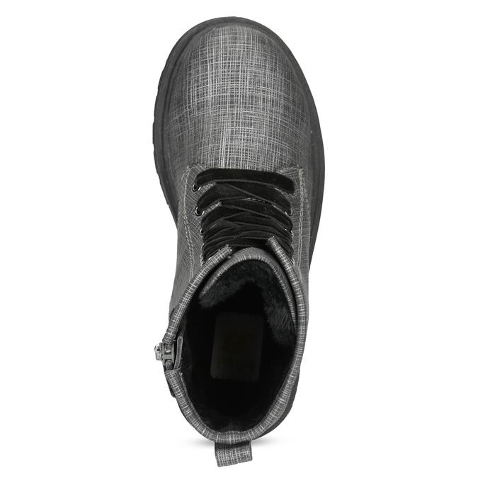 Členková detská obuv so zamatovými šnúrkami mini-b, šedá, 321-6620 - 17