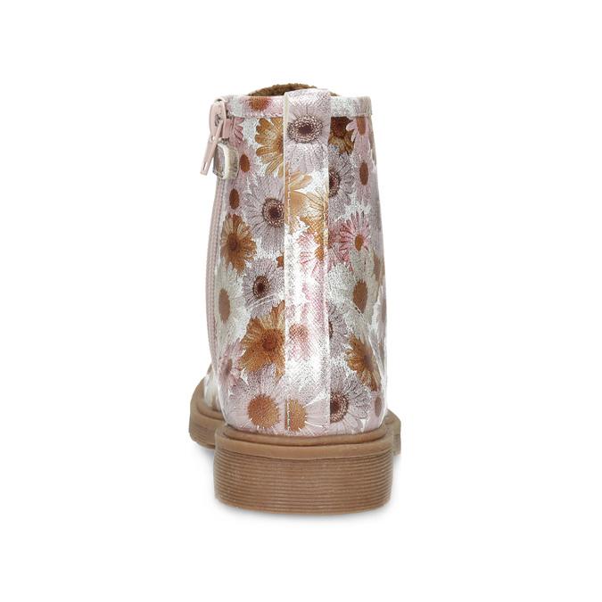 Detská členková obuv s kvetinovým vzorom mini-b, hnedá, 321-8620 - 15