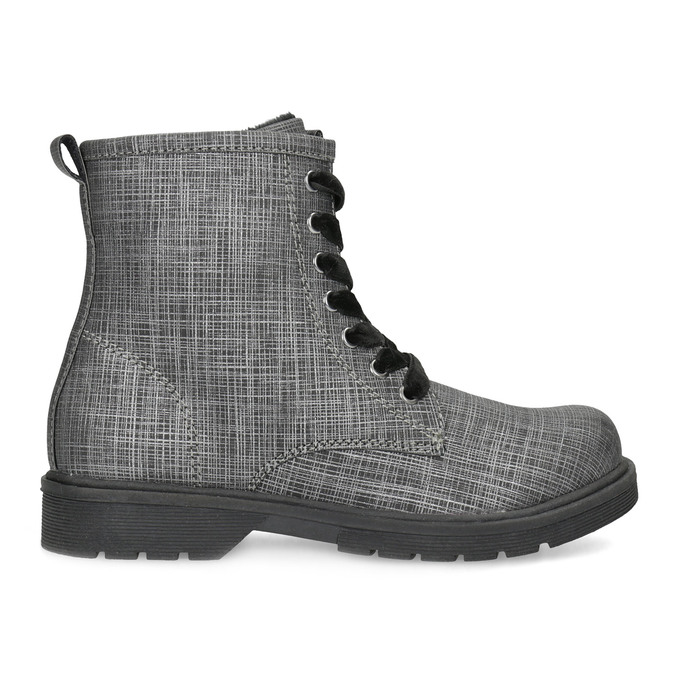 Členková detská obuv so zamatovými šnúrkami mini-b, šedá, 321-6620 - 19