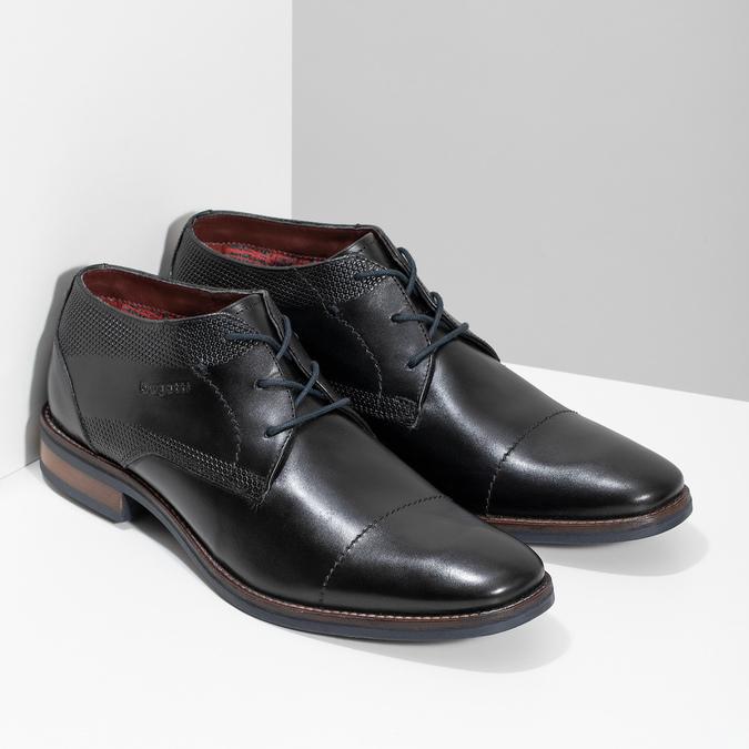 Čierne členkové poltopánky bugatti, čierna, 826-6052 - 26