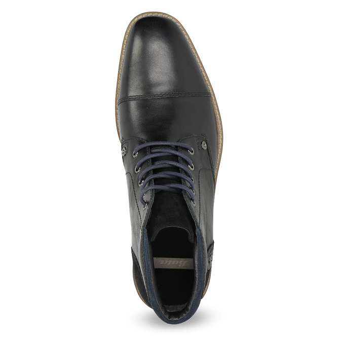 Členková pánska kožená obuv bata, čierna, 826-6611 - 17