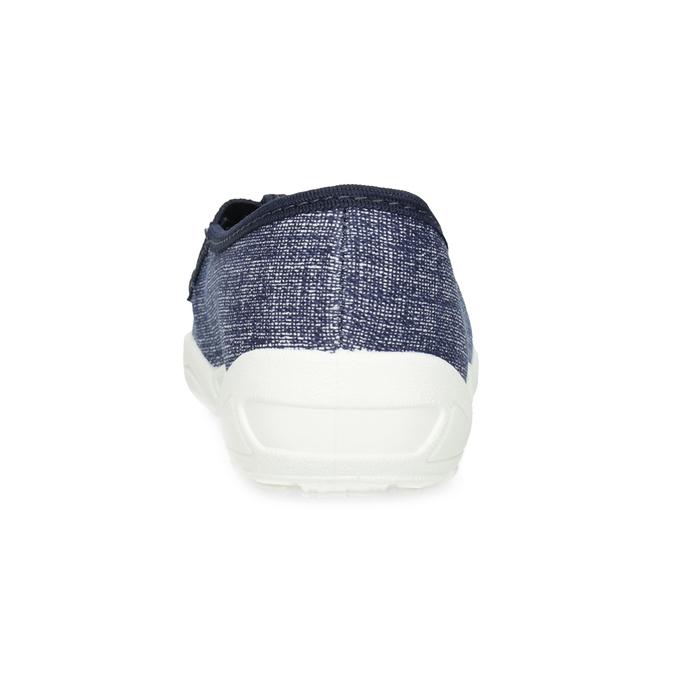 Modré detské prezuvky s potlačou mini-b, modrá, 379-2219 - 15