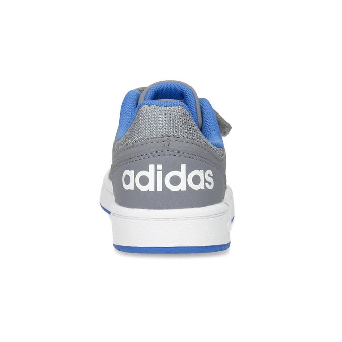 Šedé detské tenisky so suchými zipsami adidas, šedá, 301-2208 - 15