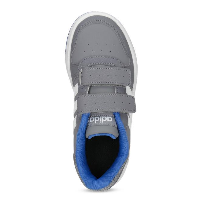 Šedé detské tenisky so suchými zipsami adidas, šedá, 301-2208 - 17