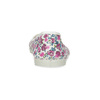 Detské prezuvky s kvetinovým vzorom bata, biela, ružová, 379-5001 - 15