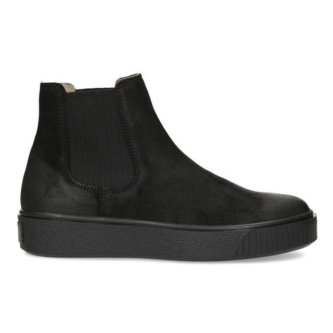 Členková kožená dámska Chelsea obuv bata, čierna, 596-6713 - 19