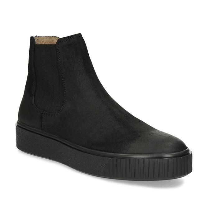 Členková kožená dámska Chelsea obuv bata, čierna, 596-6713 - 13