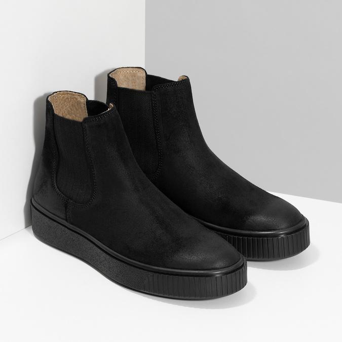 Členková kožená dámska Chelsea obuv bata, čierna, 596-6713 - 26