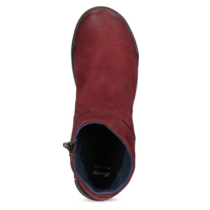 Červené kožené členkové čižmy bata, červená, 596-5706 - 17