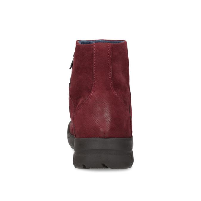 Červené kožené členkové čižmy bata, červená, 596-5706 - 15