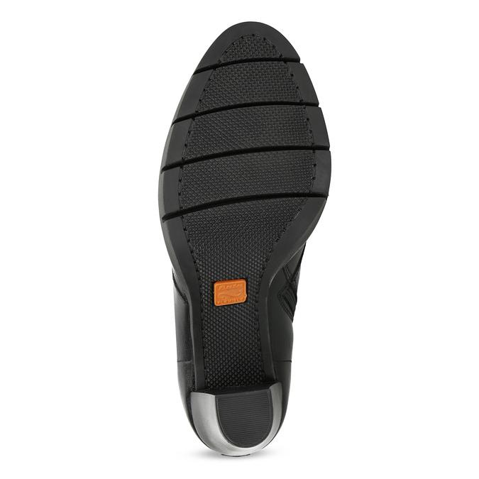 Dámske kožené poltopánky s viazaním flexible, čierna, 794-6654 - 18