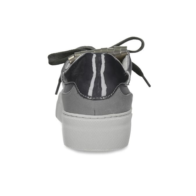 Šedé kožené tenisky so strapcom marc-o-polo, šedá, 629-2099 - 15