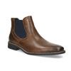 Pánska kožená obuv v štýle Chelsea bata, hnedá, 826-3865 - 13