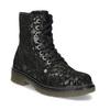 Detská kožená členková obuv so vzorom mini-b, čierna, 426-2560 - 13