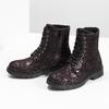 Členková kožená detská obuv so vzorom mini-b, hnedá, 426-4560 - 16