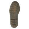 Detská kožená členková obuv so vzorom mini-b, čierna, 426-2560 - 18