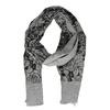 Čierna šatka so vzorom ruží bata, šedá, 909-2701 - 26