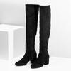Čierne čižmy na stabilnom podpätku bata, čierna, 793-6614 - 16