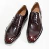 Kožené pánske lakované Oxford poltopánky bata, červená, 828-5608 - 16