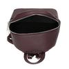 Kožený vínový mestský batôžtek bata, červená, 964-5301 - 15