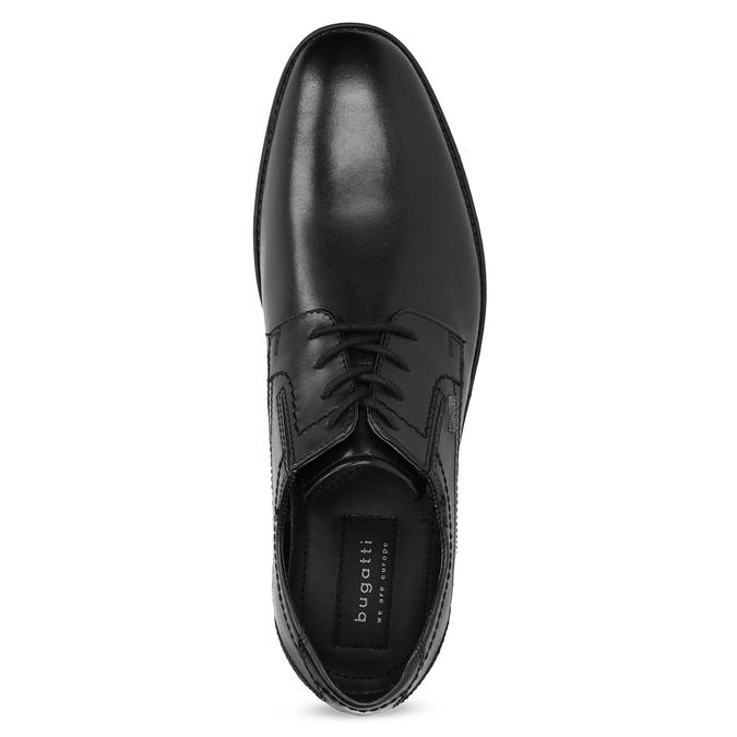 Kožené čierne derby pánske poltopánky bugatti, čierna, 824-6087 - 17