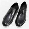 Kožené čierne derby pánske poltopánky bugatti, čierna, 824-6087 - 16