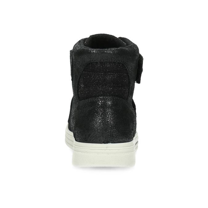 Kožené čierne detské členkové tenisky mini-b, čierna, 323-6603 - 15