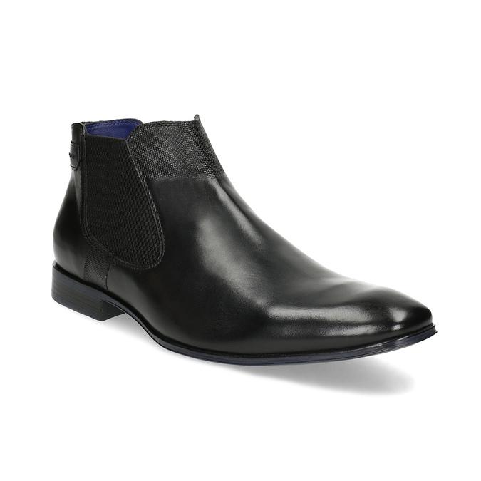 8a2aa289715e6 Čierna kožená členková obuv bugatti, čierna, 814-6013 - 13