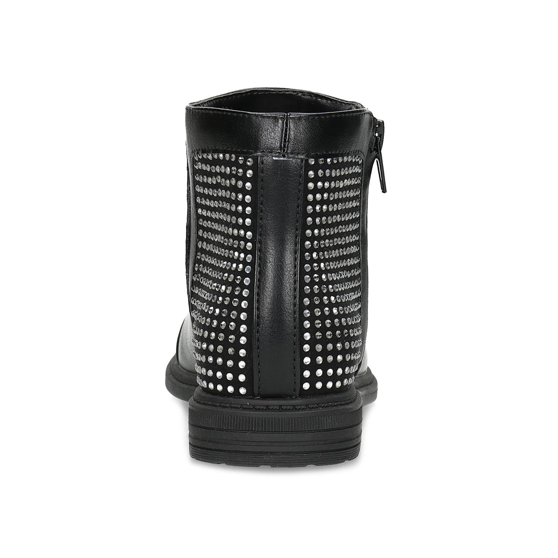 2aea5010187a Mini B Dievčenské členkové čižmy s kamienkami - Členková obuv