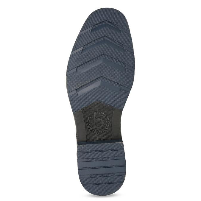 Kožená hnedá členková obuv bugatti, hnedá, 816-4065 - 18