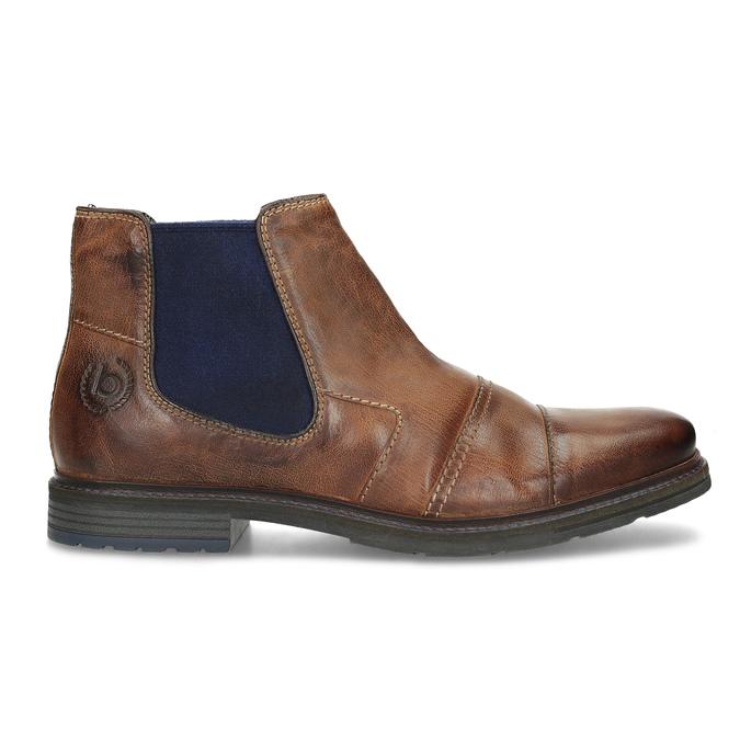 Kožená hnedá členková obuv bugatti, hnedá, 816-4065 - 19