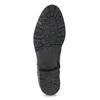 Čierna kožená členková obuv s kovovými cvočkami bata, čierna, 594-6671 - 18