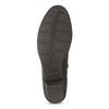 Hnedá kožená obuv s prešitím gabor, hnedá, 616-4123 - 18