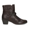 Hnedá kožená obuv s prešitím gabor, hnedá, 616-4123 - 19