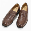 Kožené hnedé Penny Loafers mokasíny comfit, hnedá, 814-3627 - 16