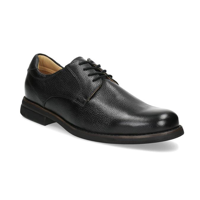 Derby ležérne kožené poltopánky comfit, čierna, 824-6974 - 13