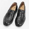 Kožené čierne Penny Loafers mokasíny comfit, čierna, 814-6627 - 16