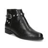 Kožená členková obuv s kovovými cvočkami bata, čierna, 594-6668 - 13